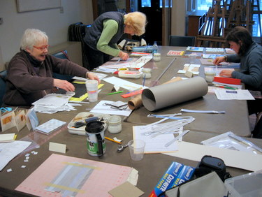 Recycled Accordion Book class at Studio Place Arts