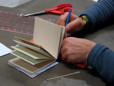 Binding pages into the accordion book
