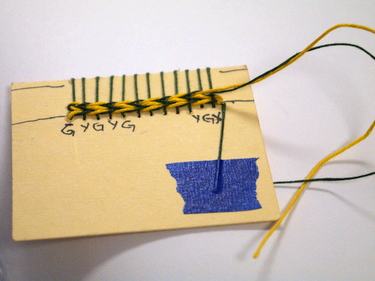 Woven headband demonstration card