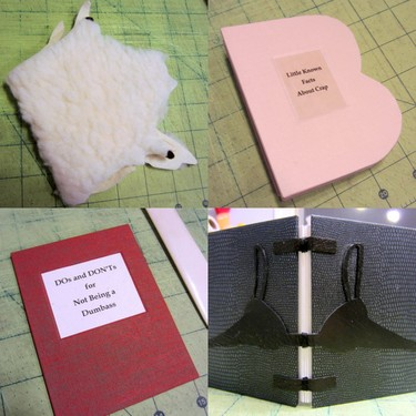 Handmade artist books by Elissa Campbell during the 2012 Book Arts Improv