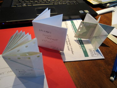 Paper models of origami fold books