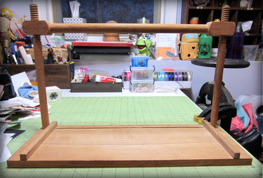 Wood sewing frame for bookbinding
