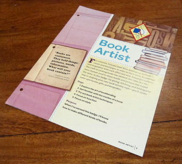 Book Artist Girl Scout Cadette badge resource booklet