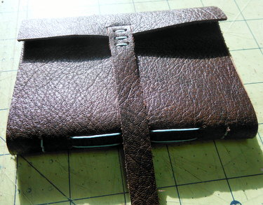 Brown handmade leather journal