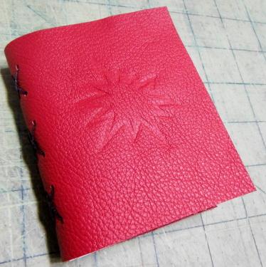 "Handmade artist book by Elissa Campbell - ""The Big Bomb"""