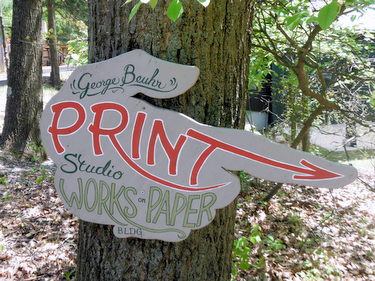 Ox-Bow Print Studio sign