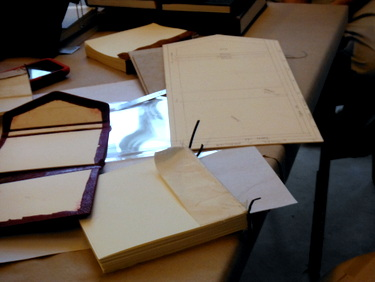 Islamic bookbinding in process