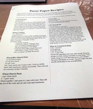 Paste Paper/Tacket Bound Album workshop handout