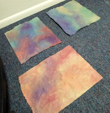 Watercolor painted papers
