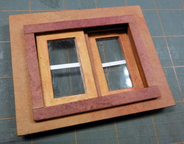 Completed sliding window frame