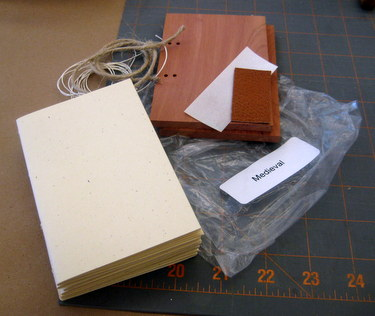 Materials kit for Medieval bookbinding