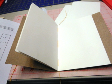 Sewing handmade book