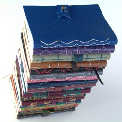 Handmade leather journals by Elissa Campbell