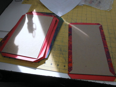 Gluing bookboard covers for handmade book
