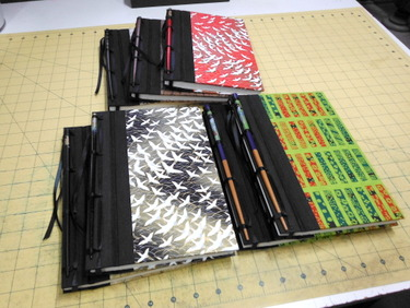 Handmade Japanese stab bound books