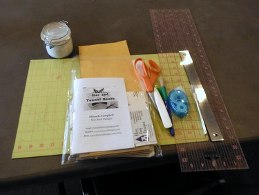 Bookbinding workshop setup