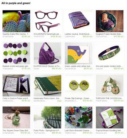 Etsy Treasury - All in purple and green