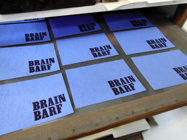 "Paper printed with the words ""Brain Barf"""