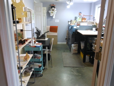 Bookbinding studio of Blue Roof Designs