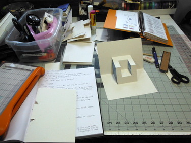 Pop up card on worktable