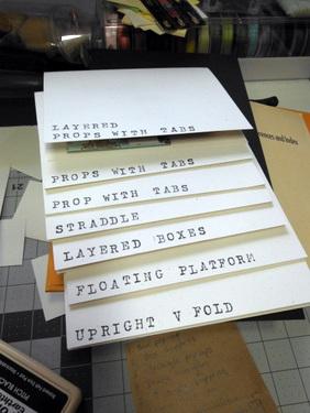 Pop-up card samples