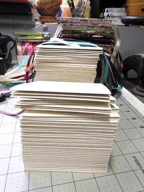 Folded cardstock
