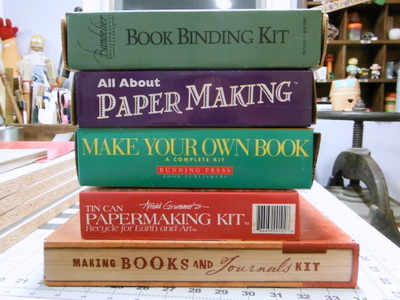 Pile of bookmaking & papermaking kits