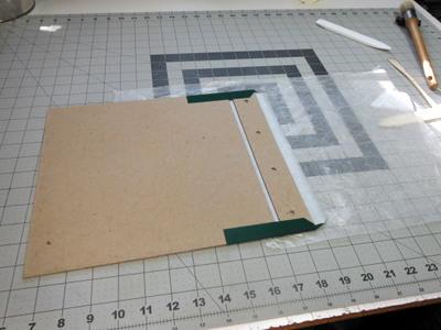 Handmade photo album in progress