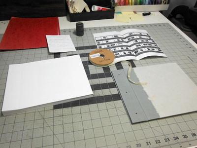 Supplies for handmade photo album