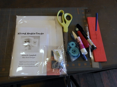 Mixed Media Cards workshop supplies