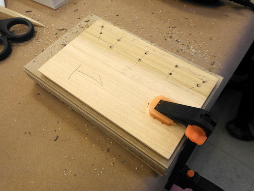 Drilled holes in wood cover boards