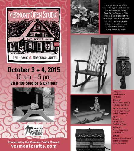 Vermont Open Studio Weekend Fall 2015 guide