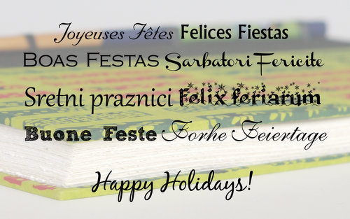 Happy Holidays in different languages