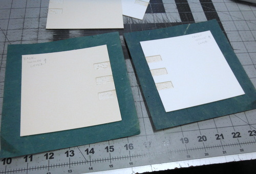 Covering boards with paper
