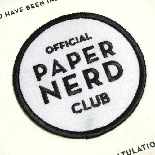 Paper Nerd Club patch by Constellation & Co.
