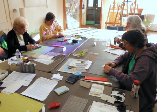 Bookbinding workshop at Studio Place Arts
