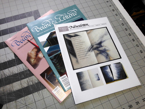 2 issues of Bound and Lettered and 1 issue of the Guild of Book Workers Newsletter