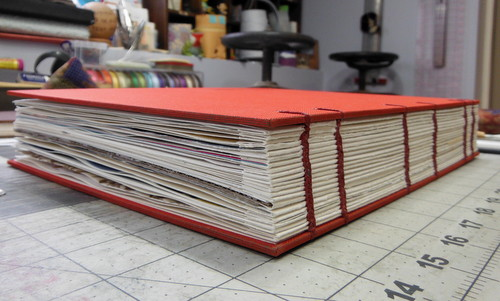 Handmade custom coptic book by ELissa Campbell of Blue Roof Designs