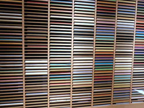 Paper shelves at Itoya Tokyo