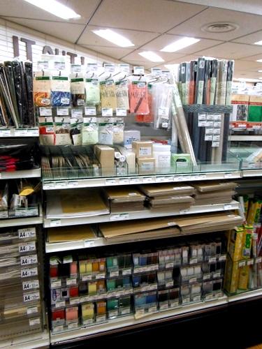 Bookbinding supplies at Tokyu Hands Tokyo