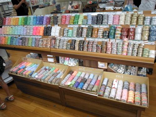 Washi tape display at Tokyu Hands Tokyo