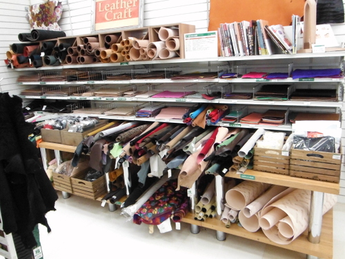 Leather display at Tokyu Hands Tokyo