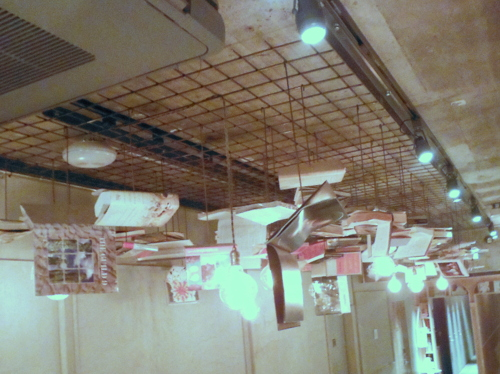 Light fixture at Book and Bed Tokyo