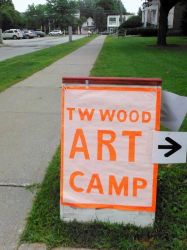 T.W. Wood Art Camp sign