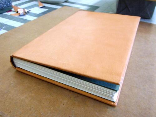 Handmade leather bound book