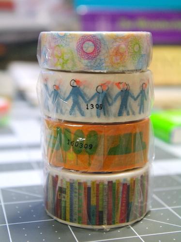 4 rolls of washi tape
