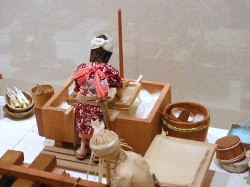 Papermaking display at Papyrus House in Echizen, Japan