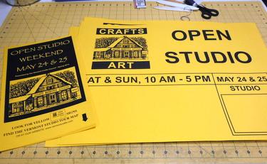 Vermont Open Studio Weekend signs