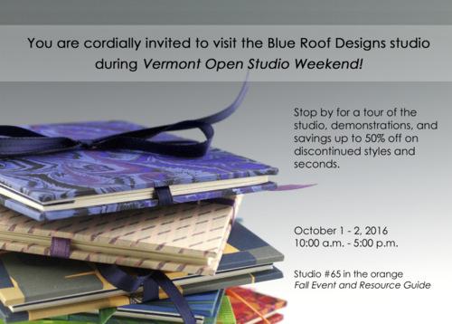 Vermont Open Studio Weekend invitation