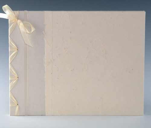 Handmade Cream Baby's Breath guest book by Blue Roof Designs